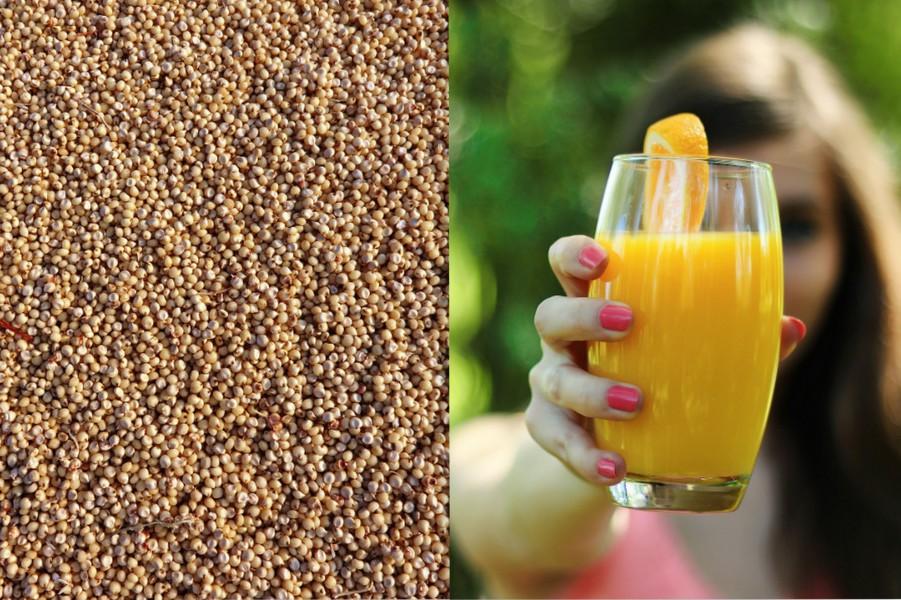 Die Aufnahme des Eisen aus der Hirse wird durch Vitamin C gefördert.