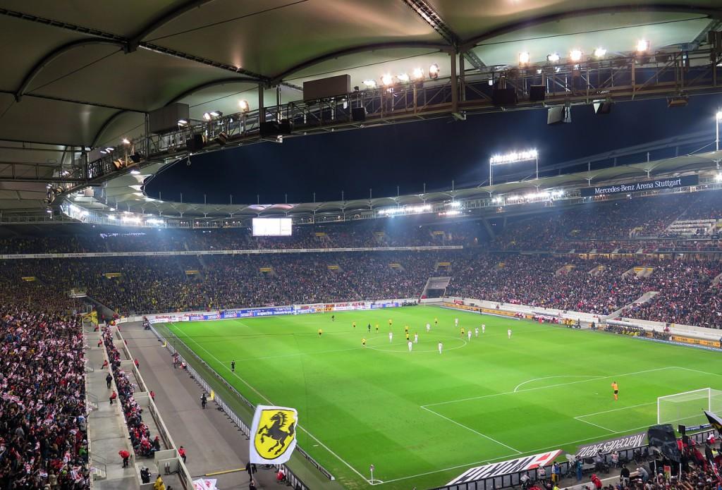 Die Mercedes-Benz Arena des VfB Stuttgart landet immerhin auf dem 7. Platz des PETA-Rankings.