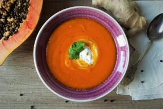 Küribis-Papaya-Suppe